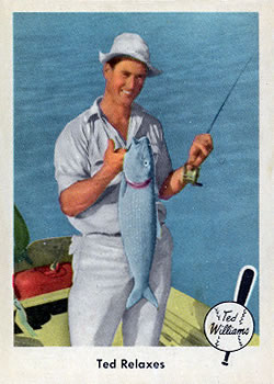 1959 Fleer Ted Williams #77 Ted Relaxes
