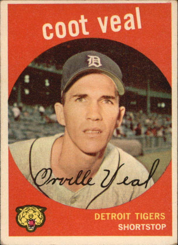 1959 Topps #52 Coot Veal RC