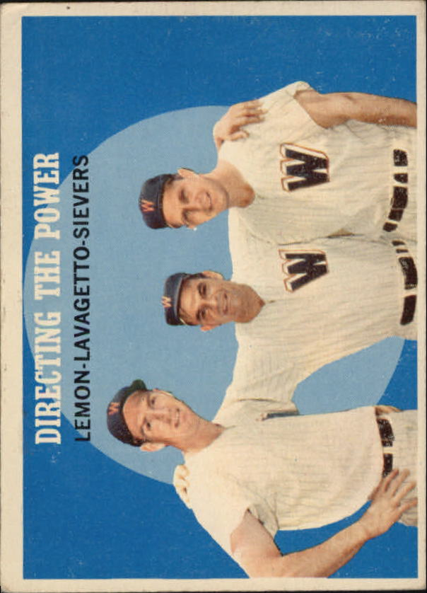 1959 Topps #74 Directing the Power/Jim Lemon/Cookie Lavagetto MG/Roy Sievers front image