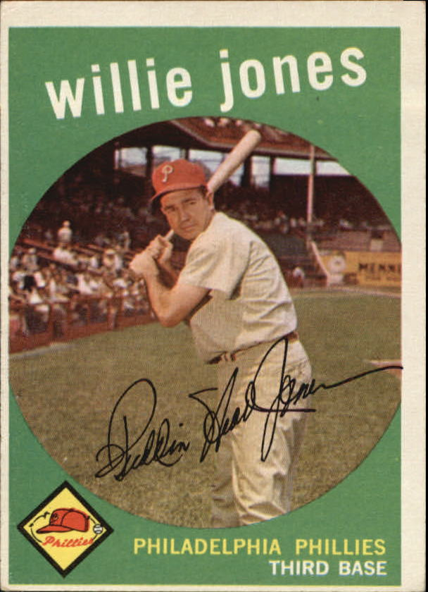 1959 Topps #208 Willie Jones front image