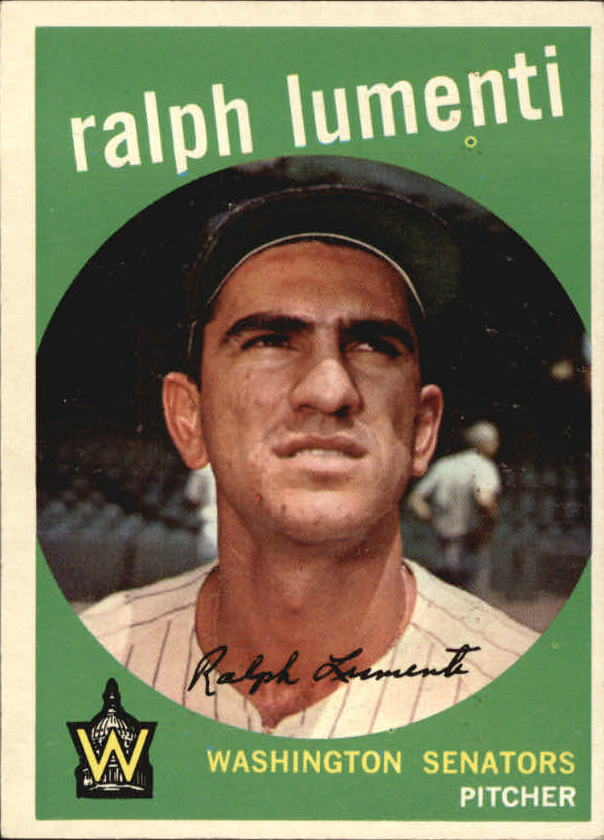 1959 Topps #316A Ralph Lumenti Option UER (Photo actually Camilo Pascual)