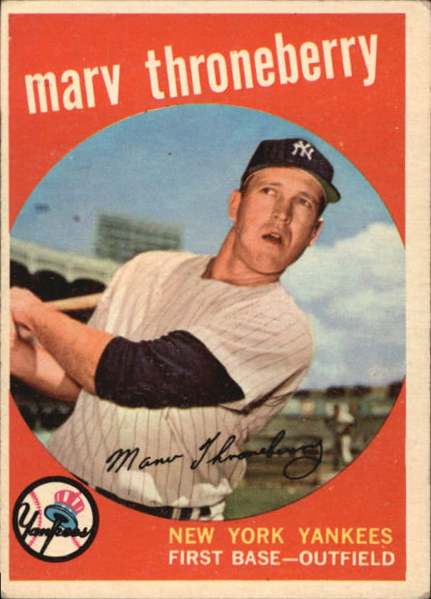 1959 Topps #326 Marv Throneberry