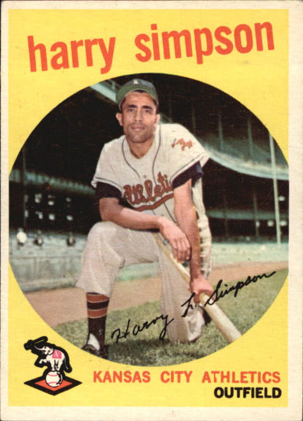 1959 Topps #333 Harry Simpson