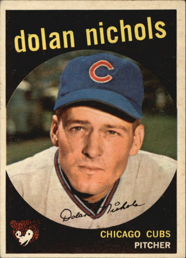 1959 Topps #362A Dolan Nichols RC (with Option Line)