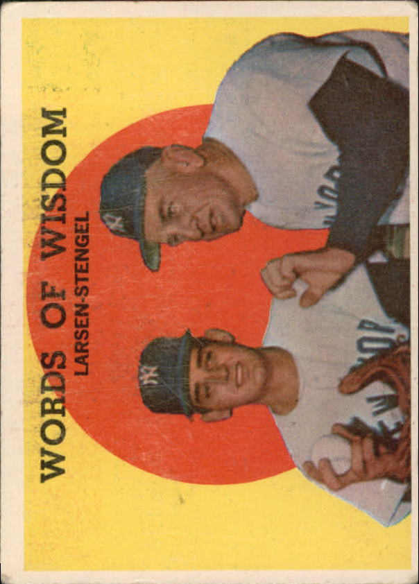1959 Topps #383 Words of Wisdom/Don Larsen/Casey Stengel MG