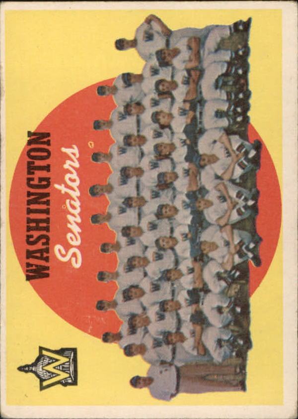 1959 Topps #397 Washington Senators CL