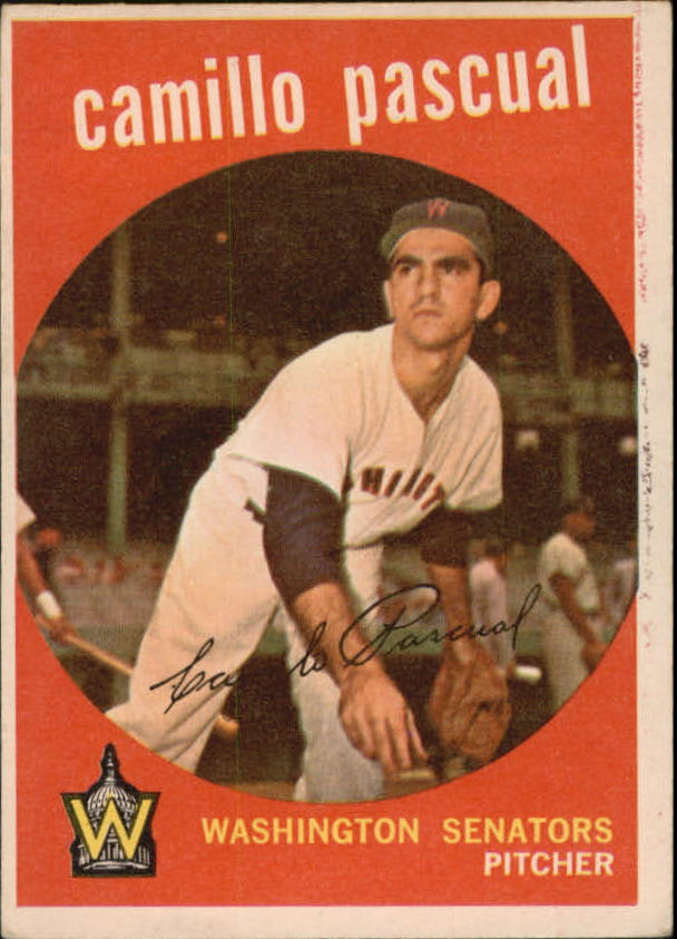 1959 Topps #413 Camilo Pascual UER/(Listed as Camillo/on front a