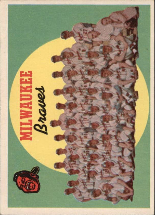 1959 Topps #419 Milwaukee Braves CL