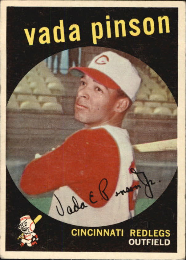 1959 Topps #448 Vada Pinson UER/Born: 8/8/38/should be 8/11/38