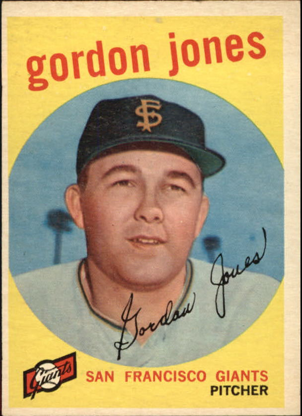 1959 Topps #458 Gordon Jones