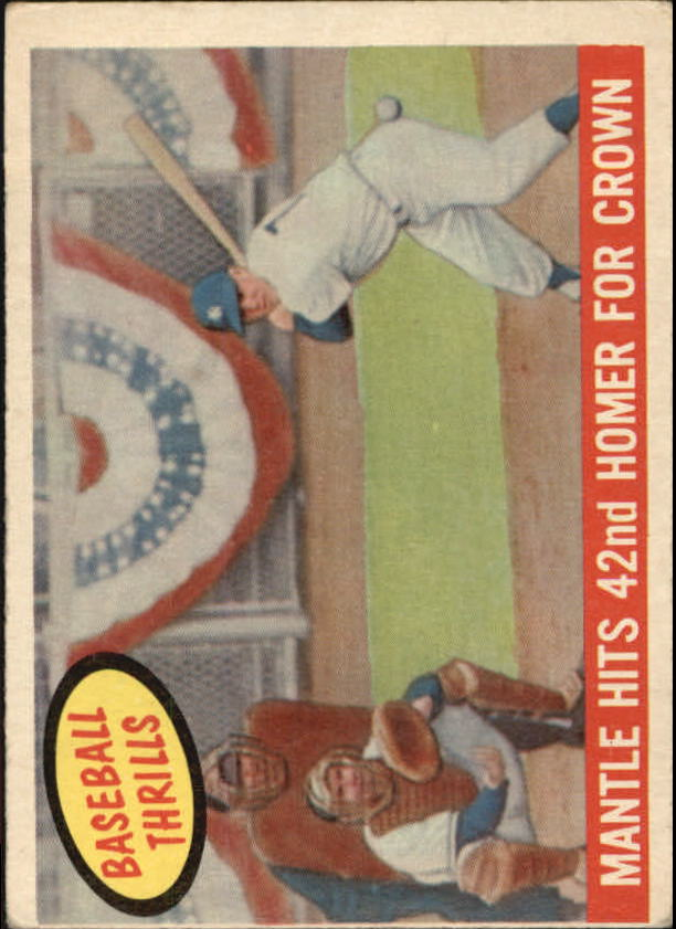 1959 Topps #461 Mickey Mantle BT/42nd Homer