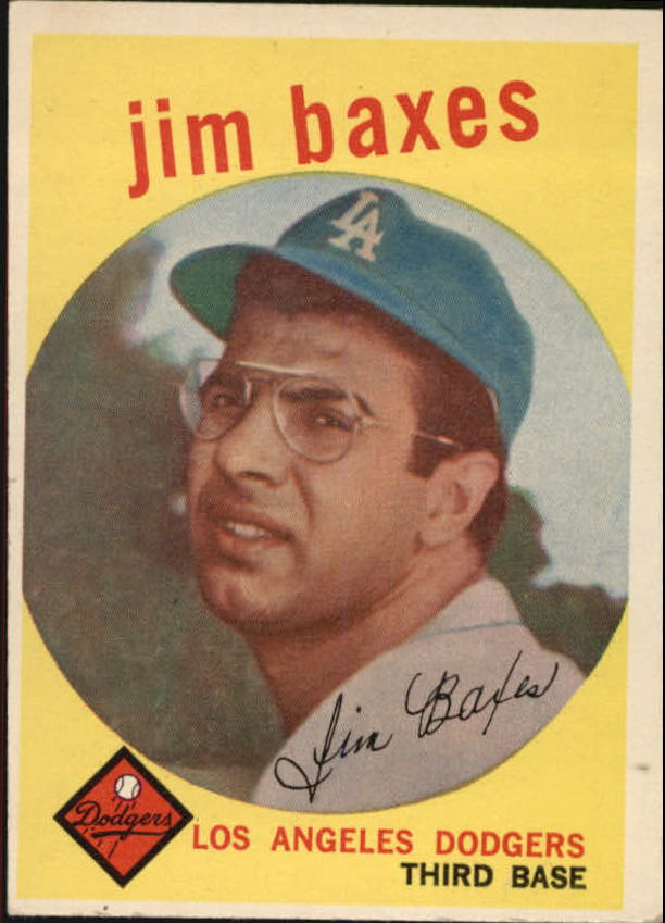 1959 Topps #547 Jim Baxes RC