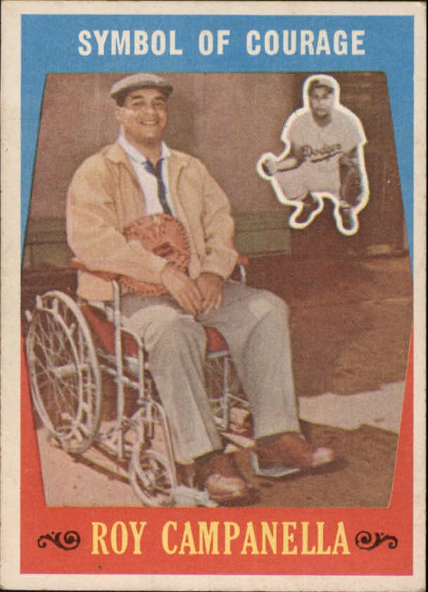 1959 Topps #550 Roy Campanella (Symbol of Courage)