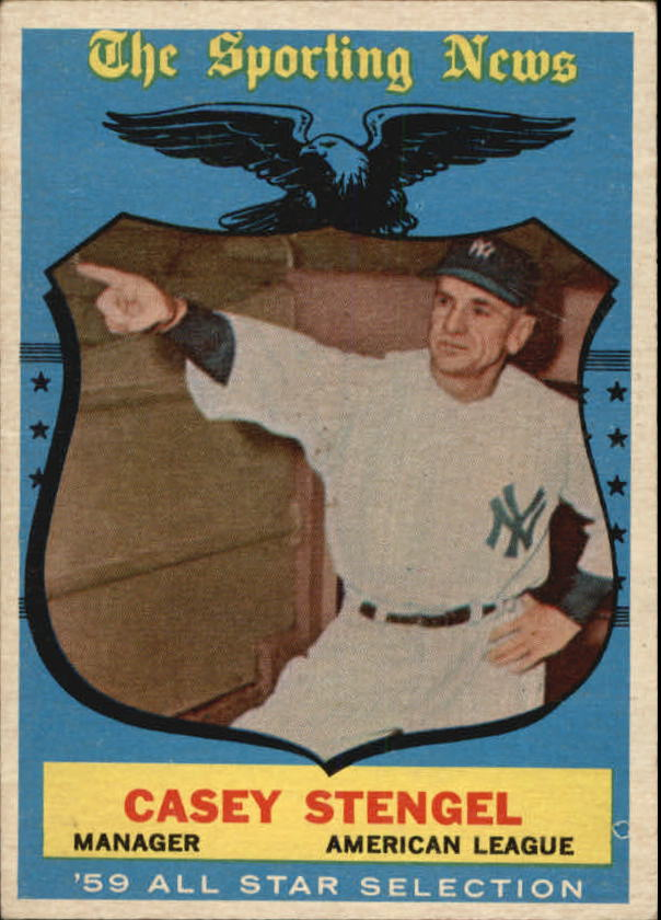 1959 Topps #552 Casey Stengel AS MG