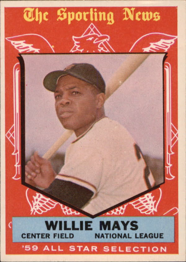 1959 Topps #563 Willie Mays AS front image