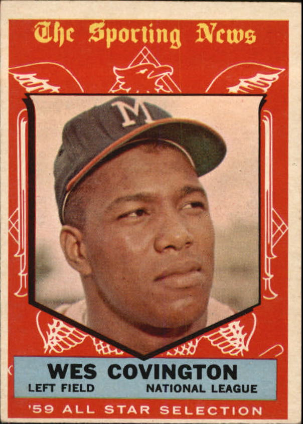 1959 Topps #565 Wes Covington AS