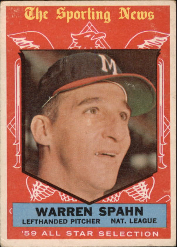 1959 Topps #571 Warren Spahn AS