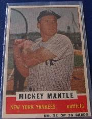 1960 Bazooka #31 Mickey Mantle