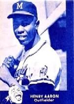 1960 Braves Lake to Lake #1 Hank Aaron