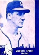 1960 Braves Lake to Lake #24 Warren Spahn