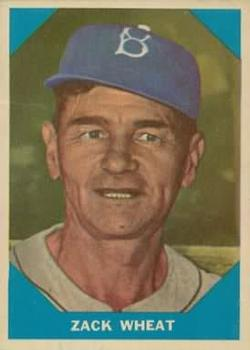 1960 Fleer #12 Zach Wheat