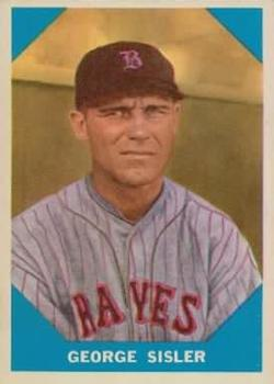 1960 Fleer #13 George Sisler