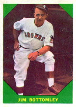 1960 Fleer #45 Jim Bottomley front image