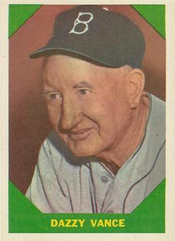 1960 Fleer #51 Dazzy Vance DP