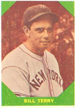 1960 Fleer #52 Bill Terry