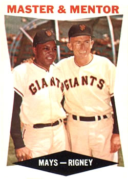 1960 Topps #7 Master and Mentor/Willie Mays/Bill Rigney MG front image
