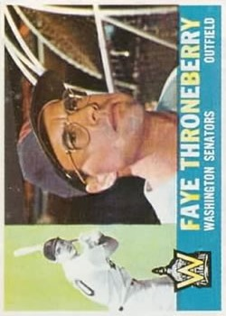 1960 Topps #9 Faye Throneberry front image