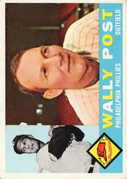 1960 Topps #13 Wally Post front image