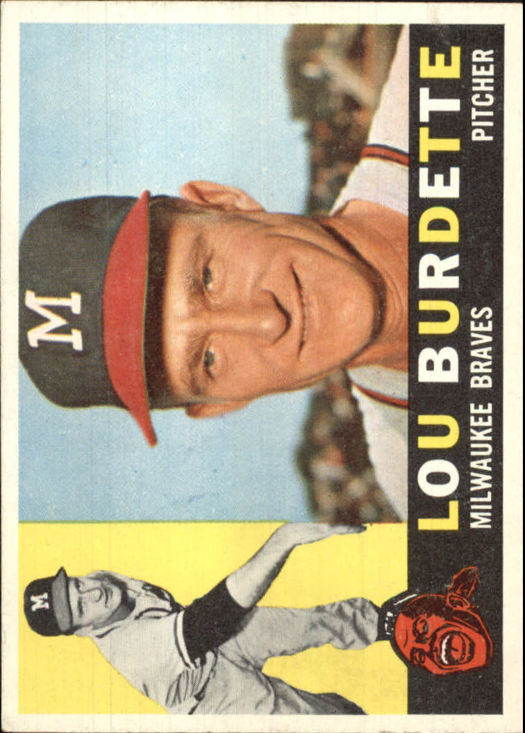 1960 Topps #70 Lew Burdette UER/Card spelled as Lou on front and back