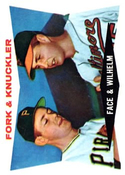 1960 Topps #115 Fork and Knuckler/Roy Face/Hoyt Wilhelm