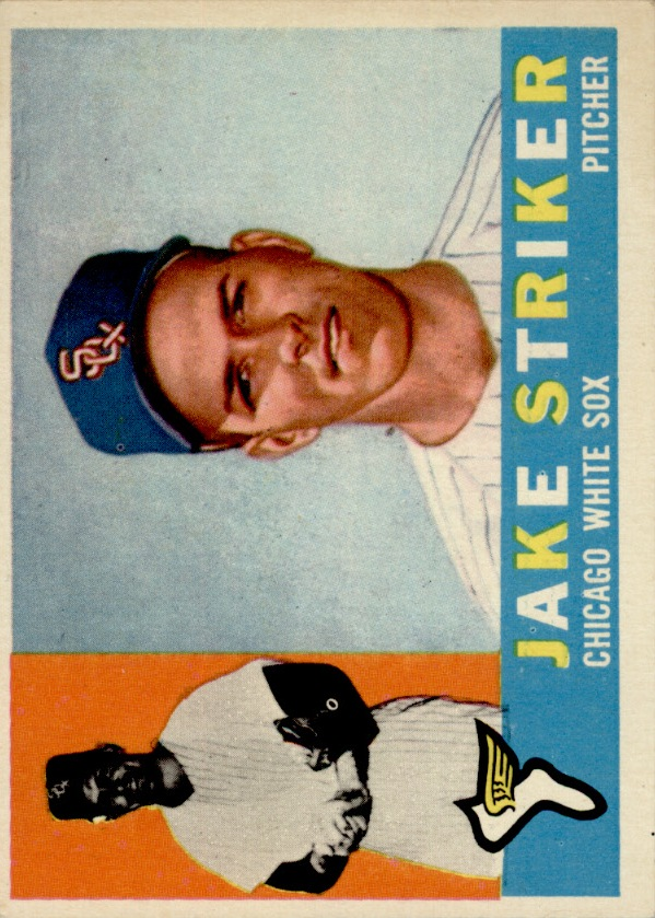 1960 Topps #169 Jake Striker RC