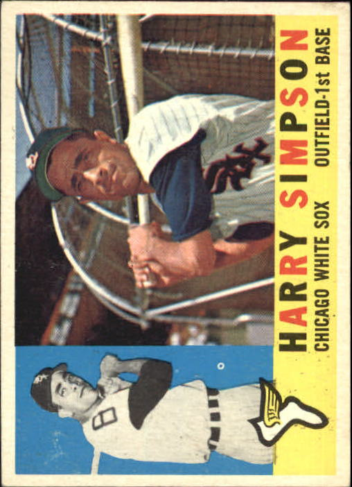 1960 Topps #180 Harry Simpson