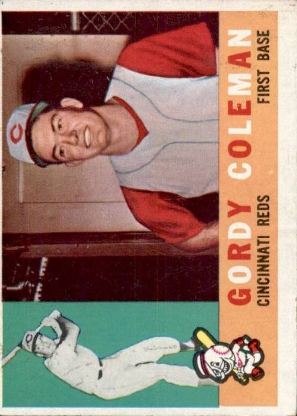 1960 Topps #257 Gordy Coleman RC