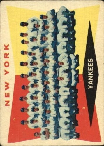1960 Topps #332 New York Yankees CL