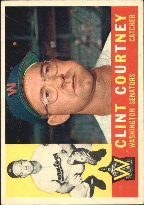 1960 Topps #344 Clint Courtney front image