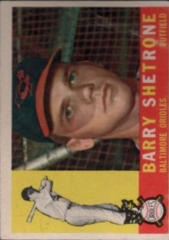 1960 Topps #348 Barry Shetrone RC