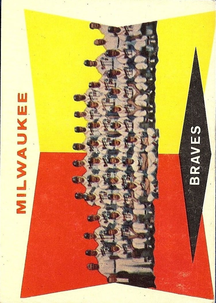 1960 Topps #381 Milwaukee Braves CL