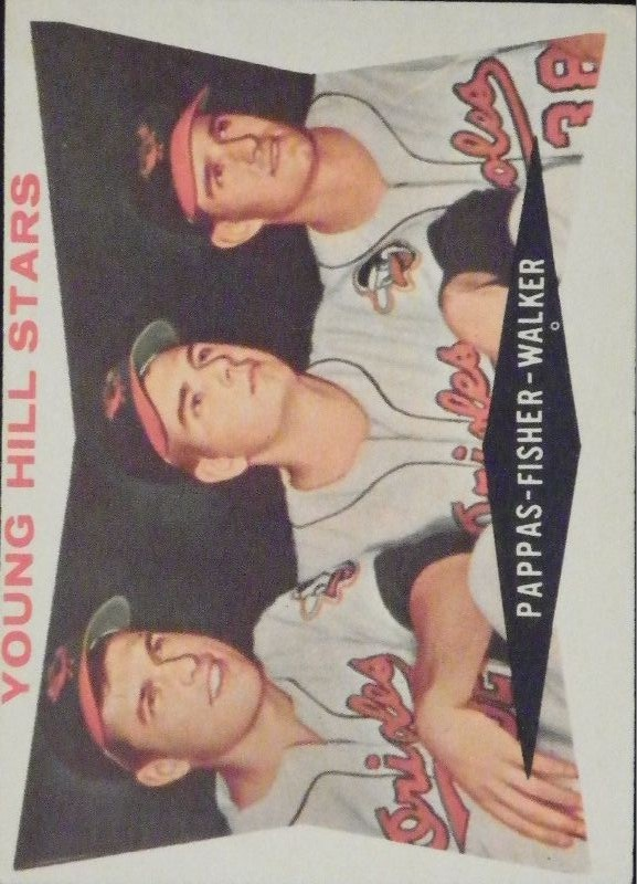 1960 Topps #399 Young Hill Stars/Milt Pappas/Jack Fisher/Jerry Walker