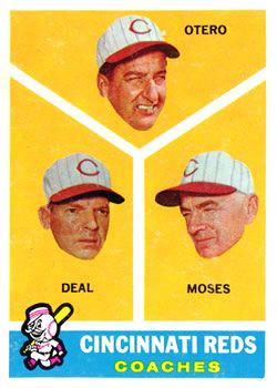 1960 Topps #459 Reds Coaches/Reggie Otero/Cot Deal/Wally Moses
