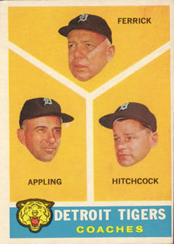 1960 Topps #461 Tigers Coaches/Tom Ferrick/Luke Appling/Billy Hitchcock