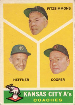 1960 Topps #462 Athletics Coaches/Fred Fitzsimmons/Don Heffner/Walker Cooper