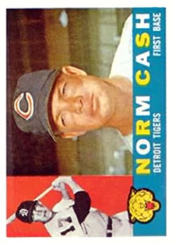 1960 Topps #488 Norm Cash/Shown with Indians Cap but listed as a Tiger
