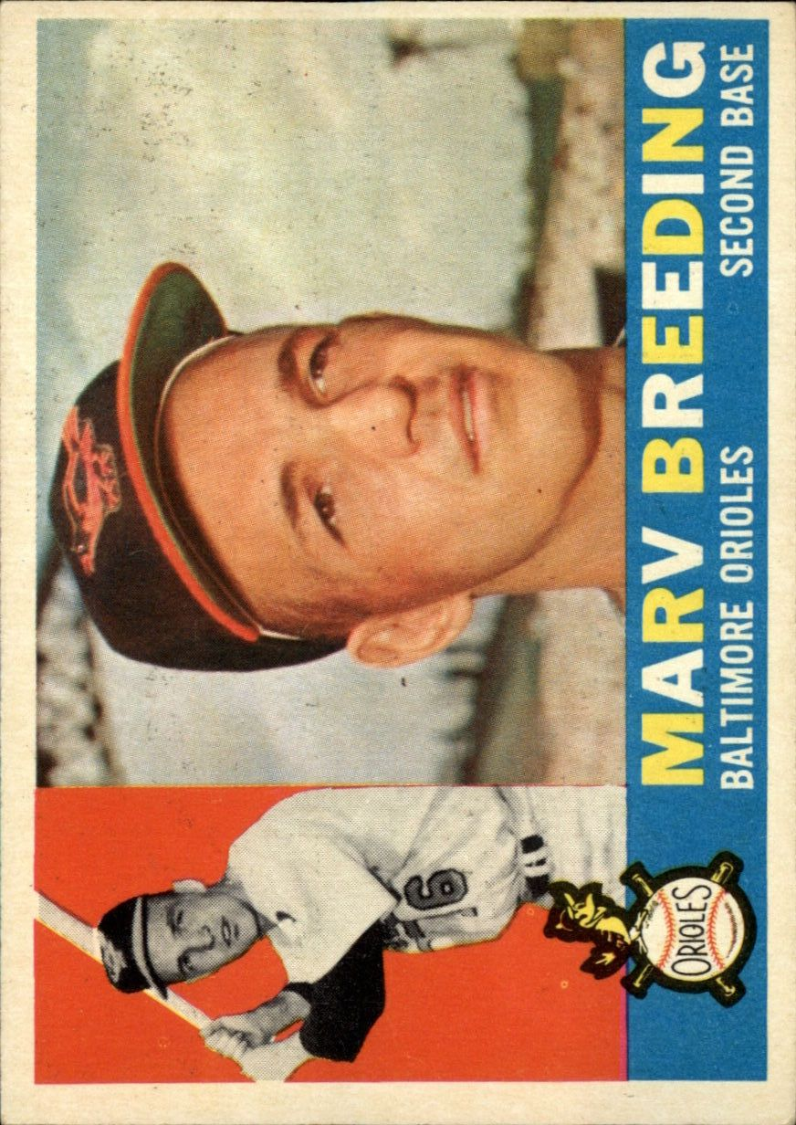 1960 Topps #525 Marv Breeding RC