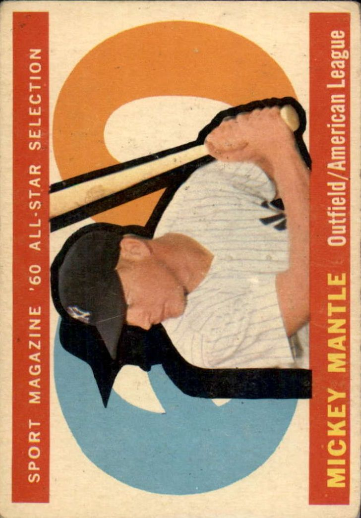 1960 Topps #563 Mickey Mantle AS