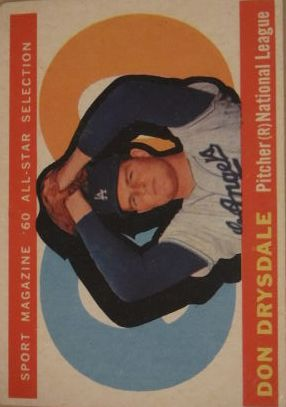 1960 Topps #570 Don Drysdale AS