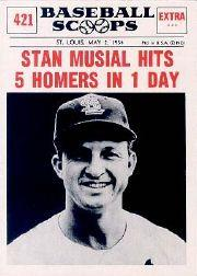 1961 Nu-Card Scoops #421 Stan Musial